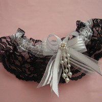 Lace garter, black lace garter, wedding/prom garter