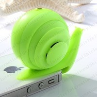 Speed the Snail Mini Portable Small Speakers for Apple Samsung General ,3.5 Mm Portable Cell Phone Audio,free Shipping By Usps (Green)