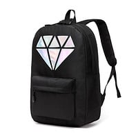 Women Backpack Schoolbag Teenage Backpacks For Girls Holographic Canvas Men Backpack