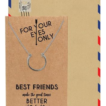 Mackenzie Best Friend Necklaces, Gifts for Best Friend with Greeting Card