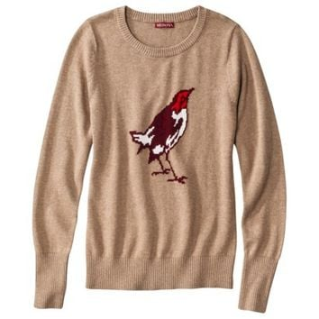 Merona® Women's Crewneck Pullover Sweater - Bird Print