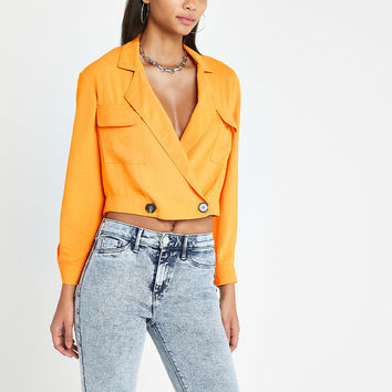 Orange crop utility shacket - Shirts - Tops - women