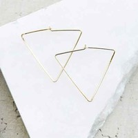 Sterling Silver + 18k Gold Plated Triangle Hoop Earring