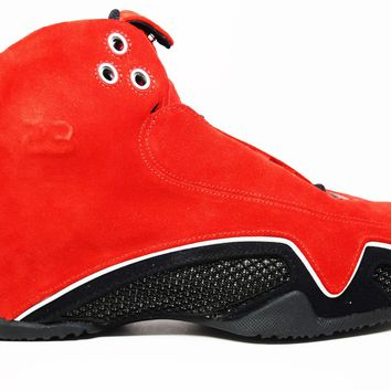 KUYOU Air Jordan 21 Varsity Red Metallic Silver Red