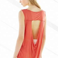 Truly Madly Deeply Cut-Out Back Yolk Tank Top - Urban Outfitters