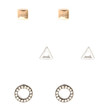FOREVER 21 Geo Stud Set Gold/Silver One