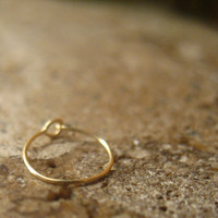 Super Thin Solid 14k Gold Nose Ring