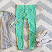 Spool Active Running Tights in Moss