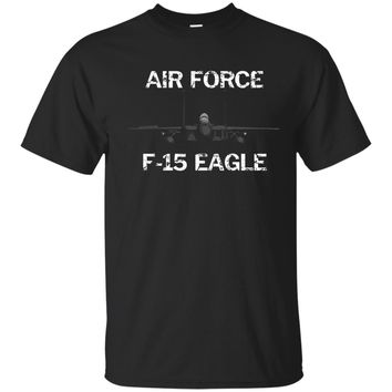 US Air Force Faded Grunge T-Shirt with F-15 Eagle Jet