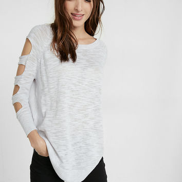 Petite Cut-Out Shoulder Tunic