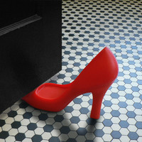 HIGH HEEL FOOT IN THE DOOR DOOR STOPPER