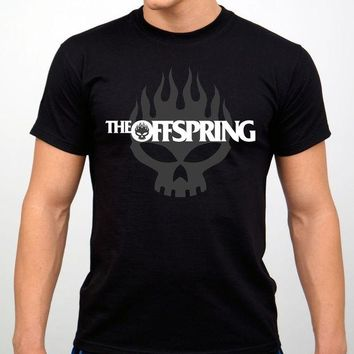 DCCKV2S The Offspring Rock Band T-shirt Black New Casual Man Tees Mens Tops Tops O-Neck T Shirts Interesting Pictures Plus Size
