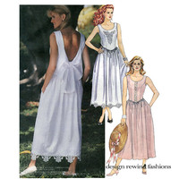McCALLS 4899 Sundress Pattern COUNTRY WEDDING DRESS Drop Waist Garden Party Dress Petiteable Womens Sewing Patterns UNCuT Size 12 14 16