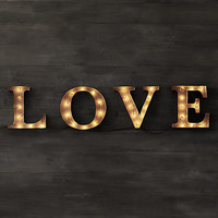 Vintage Illuminated Marquee Words - Love