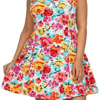 Plus Size Summer Floral A-Line Dress