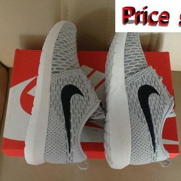 2018 Shop Nike Flyknit Roshe Run Flyknit Wolf Grey Black shoes