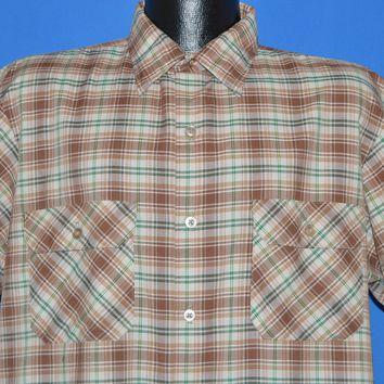 80s Big Mac Plaid Button Down Men's Shirt Extra Large