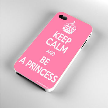 Keep calm and be a princess Pink iPhone 4s Case