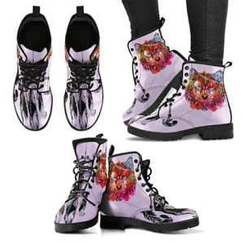 Feather Wolf - Women's Leather Boots