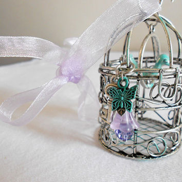 HOPE Patina Birdcage Pendant Decor