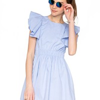 Candace ruffle dress