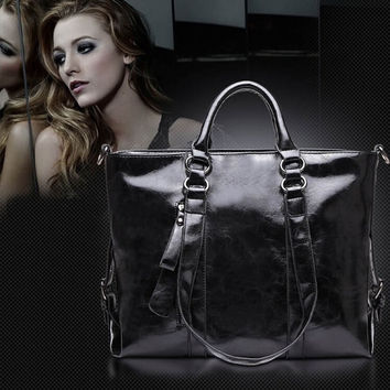 2017 New Fashion Large Shoulder Bags High Quality Women Genuine Leather Luxury Brands Handbags Ladies Hand Bags Vintage Tote Bag