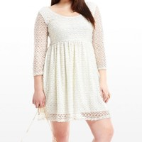 Plus Size What A Doll Lace Dress | Fashion To Figure