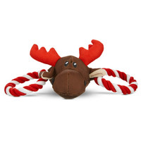Petco Holiday Moose Head With Rope Dog Toy