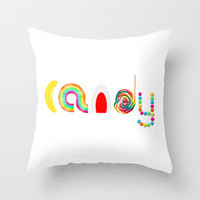 Candy Throw Pillow by Moonshine Paradise