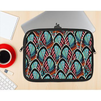 The Intense Colorful Peacock Feather Ink-Fuzed NeoPrene MacBook Laptop Sleeve