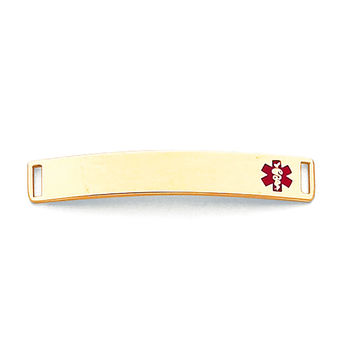 14K MEDICAL JEWELRY ID PLATE