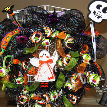 Halloween Deco Mesh Handpainted Adorable by KraftyKreations4You