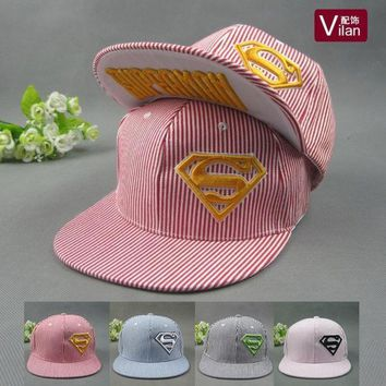 PEAPIX3 Cotton embroidered Superman stereo flat along the baseball summer men and women in hip-hop Cap visor Hat = 1946381380