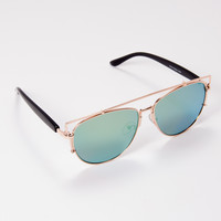 Over You Sunglasses Green | Disruptive Youth