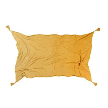 Ombre Cotton Blanket - Mustard