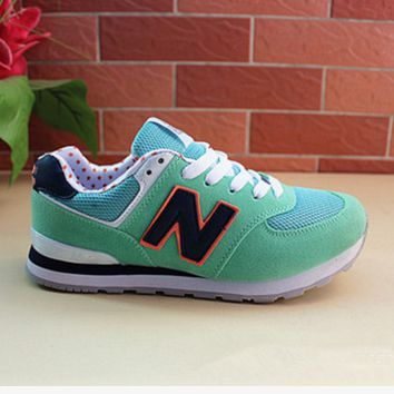 New balance abric is breathable n leisure sports Couples forrest gump running Green