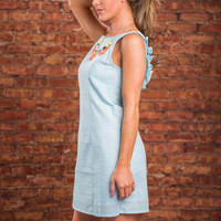 Preppy And Perfect Dress, Aqua