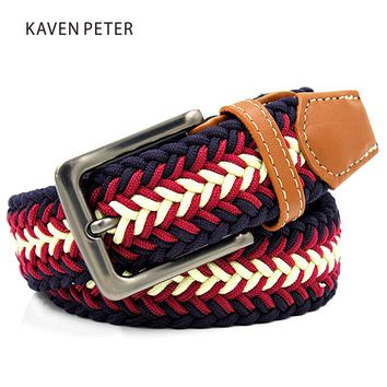 *online exclusive* men's leather braided stretch belt