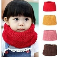 New Children Winter Warm Infinity Cable Knit Cowl Neck Scarf Shawl = 1958132484