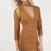 Ignite Plunging Bodycon Dress