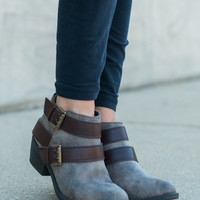 The Newlyn Bootie, Taupe/Brown