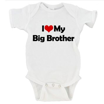 I Heart Love My Big Brother / Big Sister / Brother / Sister Gerber Onesuit ®
