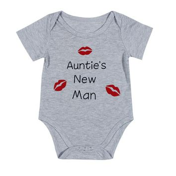 Handsome Just Like Dad,  Auntie's New Man - Newborn Baby Toddler Infants Onesuit