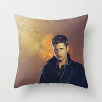 Dean Winchester - Supernatural Throw Pillow by KanaHyde