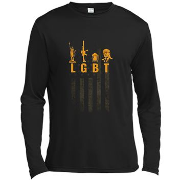 Funny LGBT Liberty Guns Beer Trump Support T-shirt