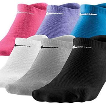 Nike 6 Pair No-Show Socks Womens