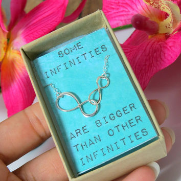 Some Infinities are Bigger than other Infinities, The Fault in Our Stars Quote Necklace, Sterling Silver Chain