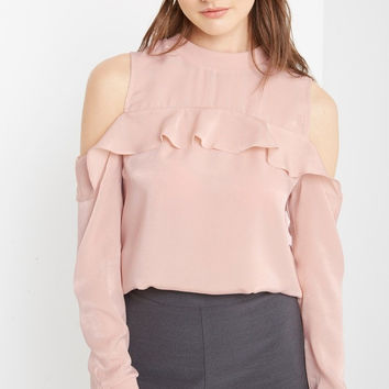 Keepers Cold Shoulder Satin Top