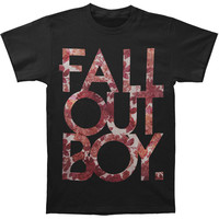 Fall Out Boy Men's  Floral T-shirt Black Rockabilia