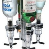 Global Decor 170 Rotating 4 Bottle 1-1/2-Ounce Drink Dispenser